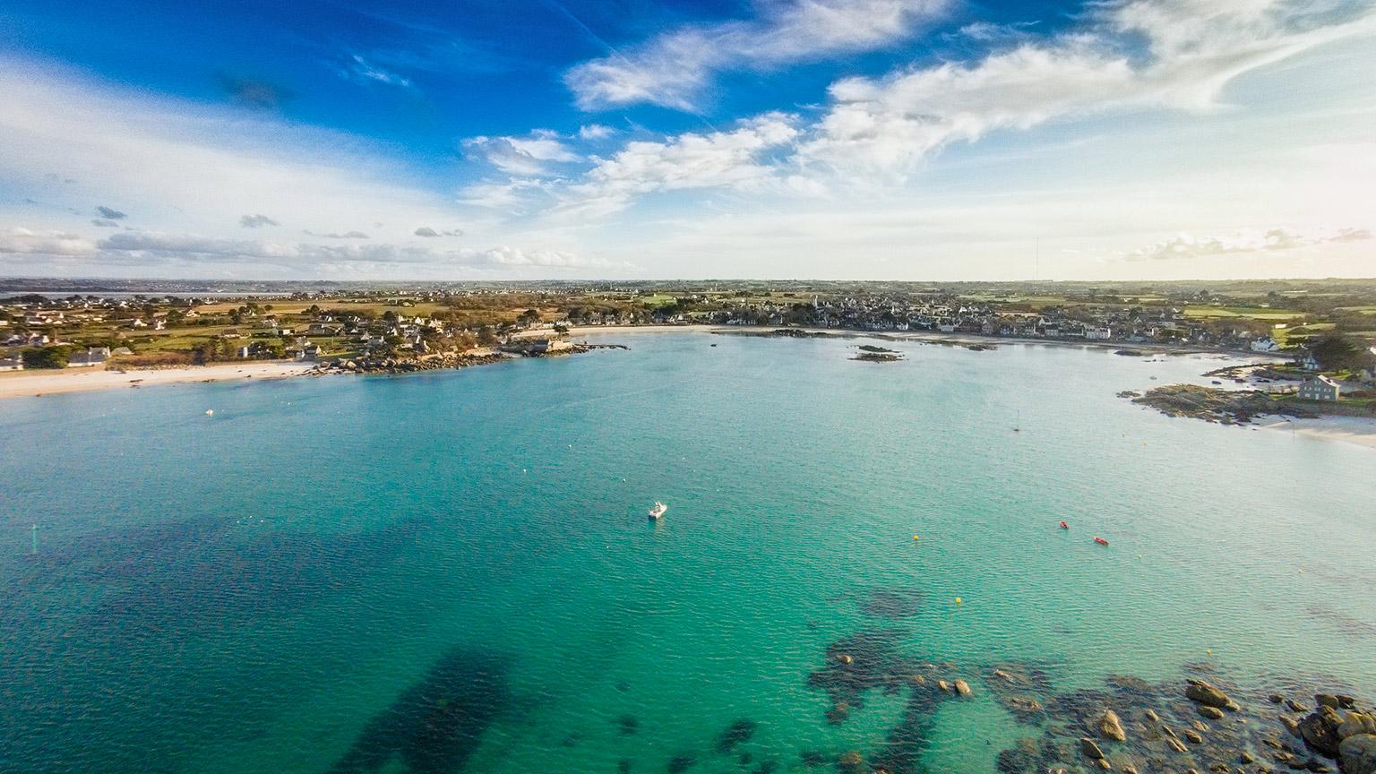 Photo aerienne par drone Finistere Bretagne