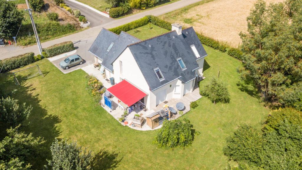 Photo immobilière aérienne drone DJI Finistère Bretagne