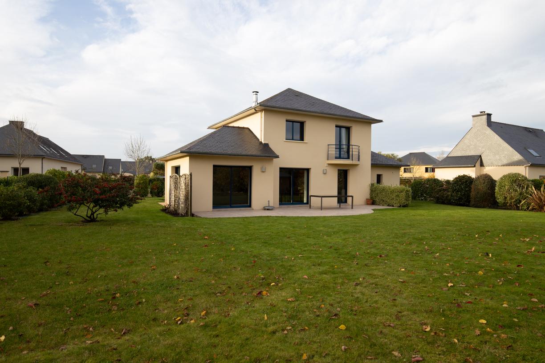 Photo immobilière extérieure d'une maison dans le Finistère