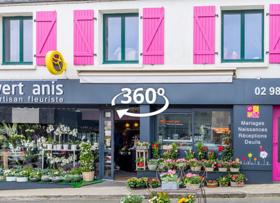 Visite virtuelle Fleuriste Vert Anis à Lesneven Finistère Bretagne
