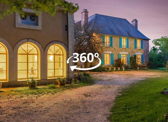 Visite virtuelle à 360° interactive du gîte rural de Béancé à Montaillé dans la Sarthe