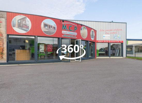 Visite virtuelle interactive à 360° des show-rooms de M.C.P Bramoullé dans le Finistère